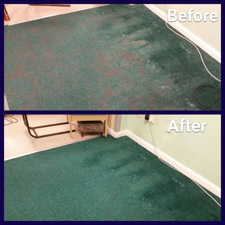 before and after cleaning commercial carpet