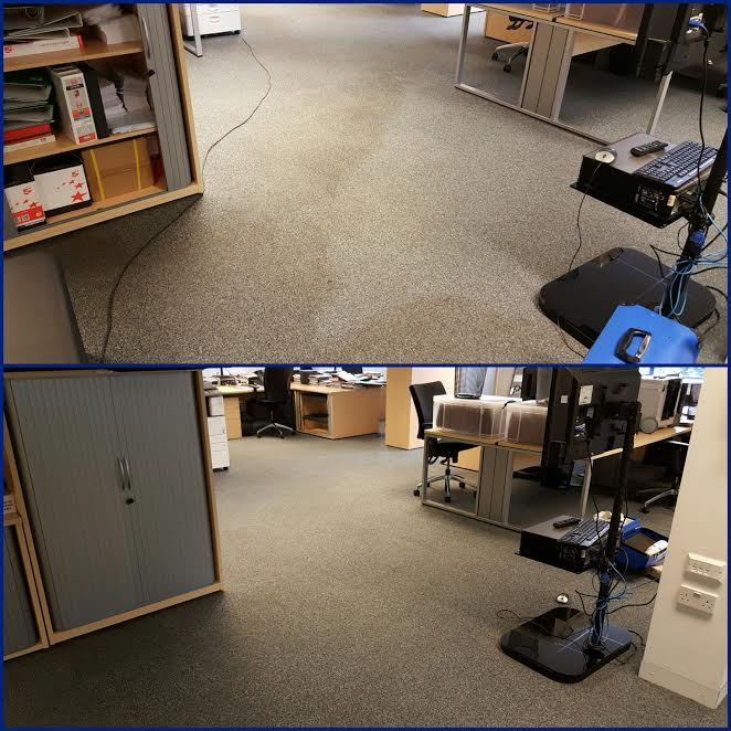 office carpet before and after carpet cleaning